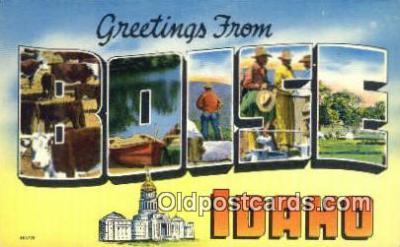 LLT200401 - Boise, Idaho, USA Large Letter Town Postcard Post Card Old Vintage Antique