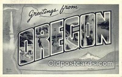 LLT200457 - Oregon, USA Large Letter Town Postcard Post Card Old Vintage Antique