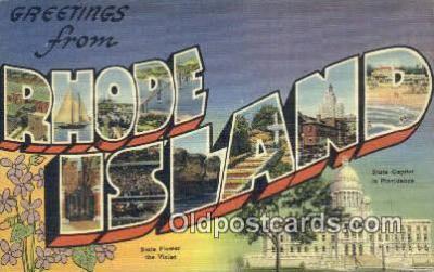 LLT200458 - Rhode Island, USA Large Letter Town Postcard Post Card Old Vintage Antique