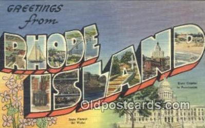LLT200459 - Rhode Island, USA Large Letter Town Postcard Post Card Old Vintage Antique