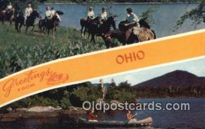 LLT200489 - Ohio, USA Large Letter Town Postcard Post Card Old Vintage Antique