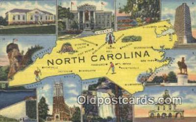 LLT200494 - North Carolina, USA Large Letter Town Postcard Post Card Old Vintage Antique