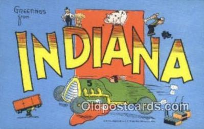 Indiana, USA Postcard Post Card