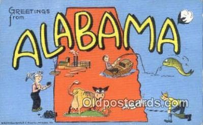 LLT200574 - Alabama, USA Large Letter Town Postcard Post Card Old Vintage Antique