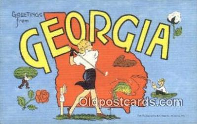 Georgia, USA Postcard Post Card