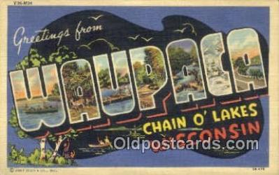 Waupaca, Wisconsin, USA Postcard Post Card