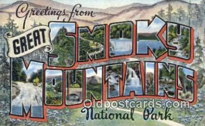 Smoky Mountains, TN, USA Postcard Post Card