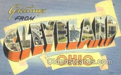 LLT200647 - Cleveland, Ohio, USA Large Letter Town Postcard Post Card Old Vintage Antique