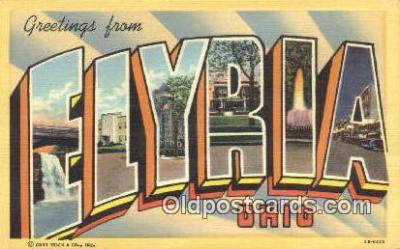 LLT200663 - Flyria, Ohio, USA Large Letter Town Postcard Post Card Old Vintage Antique