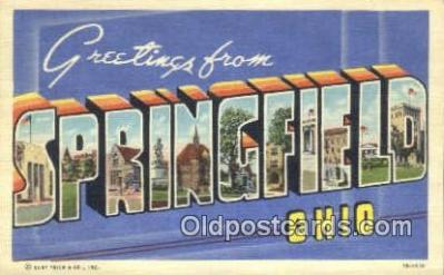 Springfield, Ohio, USA Postcard Post Card