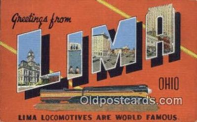 Lima, Ohio, USA Postcard Post Card