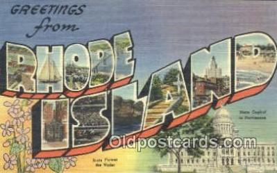 Rhode Island, USA Postcard Post Card
