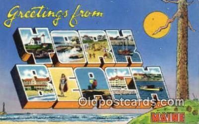 LLT201144 - York Beach, Maine USA Large Letter Town Vintage Postcard Old Post Card Antique Postales, Cartes, Kartpostal