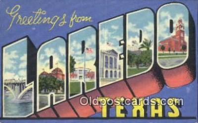 LLT201189 - Laredo, Texas USA Large Letter Town Vintage Postcard Old Post Card Antique Postales, Cartes, Kartpostal