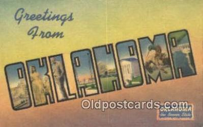 LLT201204 - Oklahoma USA Large Letter Town Vintage Postcard Old Post Card Antique Postales, Cartes, Kartpostal