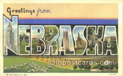 LLT201211 - Nebraska USA Large Letter Town Vintage Postcard Old Post Card Antique Postales, Cartes, Kartpostal