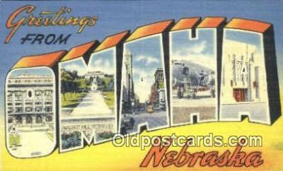 LLT201231 - Omaha, Nebraska USA Large Letter Town Vintage Postcard Old Post Card Antique Postales, Cartes, Kartpostal