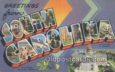 LLT201261 - South Carolina USA Large Letter Town Vintage Postcard Old Post Card Antique Postales, Cartes, Kartpostal