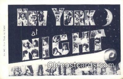 LLT201625 - New York USA Large Letter Town Vintage Postcard Old Post Card Antique Postales, Cartes, Kartpostal