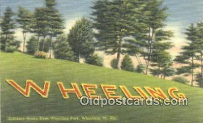 LLT201634 - Wheeling, W VA USA Large Letter Town Vintage Postcard Old Post Card Antique Postales, Cartes, Kartpostal