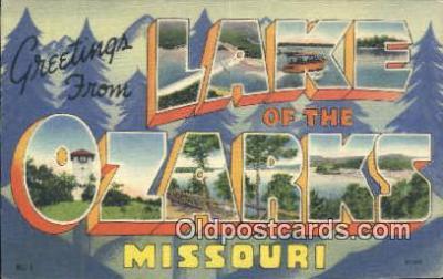 LLT201644 - Lake of the Ozarks, Missouri USA Large Letter Town Vintage Postcard Old Post Card Antique Postales, Cartes, Kartpostal