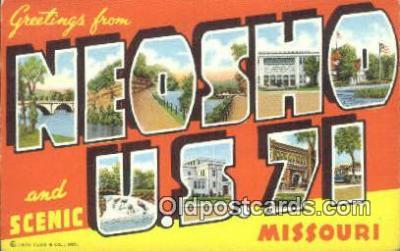 LLT201647 - Neosho US 71, Missouri USA Large Letter Town Vintage Postcard Old Post Card Antique Postales, Cartes, Kartpostal
