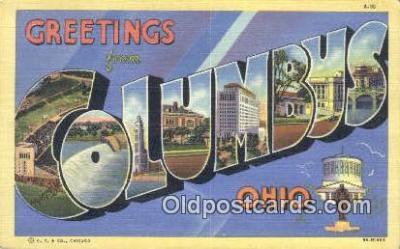 LLT201656 - Columbus, Ohio USA Large Letter Town Vintage Postcard Old Post Card Antique Postales, Cartes, Kartpostal