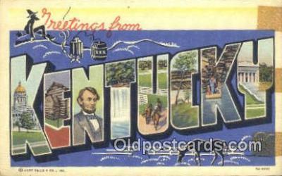 LLT201661 - Kentucky USA Large Letter Town Vintage Postcard Old Post Card Antique Postales, Cartes, Kartpostal