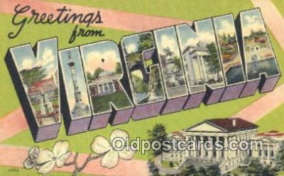 LLT201664 - Virginia USA Large Letter Town Vintage Postcard Old Post Card Antique Postales, Cartes, Kartpostal