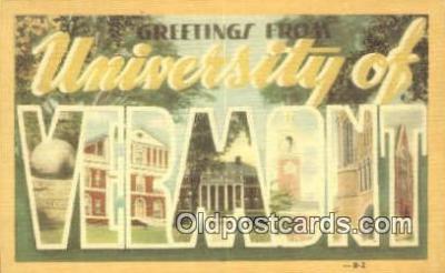 LLT201665 - Vermont USA Large Letter Town Vintage Postcard Old Post Card Antique Postales, Cartes, Kartpostal