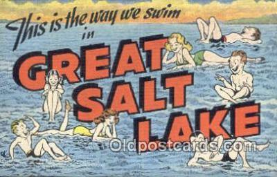 LLT201674 - Great Salt Lake USA Large Letter Town Vintage Postcard Old Post Card Antique Postales, Cartes, Kartpostal