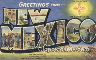 LLT201688 - New Mexico USA Large Letter Town Vintage Postcard Old Post Card Antique Postales, Cartes, Kartpostal
