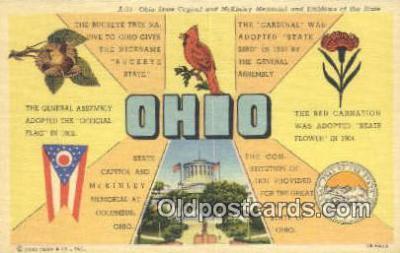 LLT201693 - Ohio USA Large Letter Town Vintage Postcard Old Post Card Antique Postales, Cartes, Kartpostal