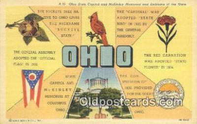 LLT201694 - Ohio USA Large Letter Town Vintage Postcard Old Post Card Antique Postales, Cartes, Kartpostal