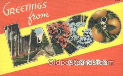 LLT201703 - Largo, Florida USA Large Letter Town Vintage Postcard Old Post Card Antique Postales, Cartes, Kartpostal