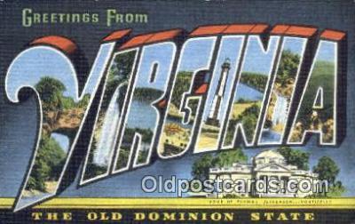 LLT201721 - Virginia USA Large Letter Town Vintage Postcard Old Post Card Antique Postales, Cartes, Kartpostal