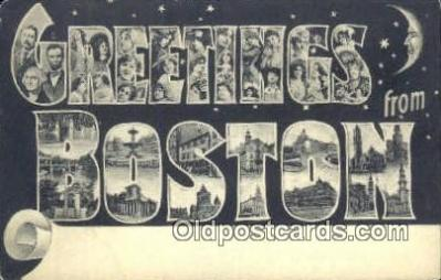 LLT201726 - Boston, Mass USA Large Letter Town Vintage Postcard Old Post Card Antique Postales, Cartes, Kartpostal