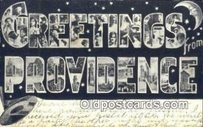 LLT201729 - Providence USA Large Letter Town Vintage Postcard Old Post Card Antique Postales, Cartes, Kartpostal