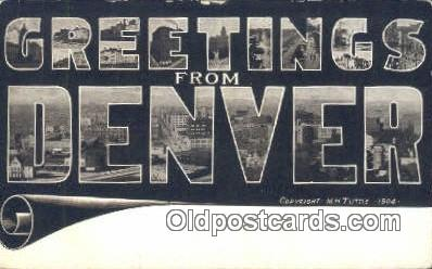 LLT201746 - Denver, Colo USA Large Letter Town Vintage Postcard Old Post Card Antique Postales, Cartes, Kartpostal