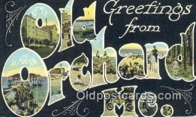 LLT201754 - Old Orchard, ME USA Large Letter Town Vintage Postcard Old Post Card Antique Postales, Cartes, Kartpostal