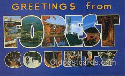 LLT201756 - Forest County, Penn USA Large Letter Town Vintage Postcard Old Post Card Antique Postales, Cartes, Kartpostal