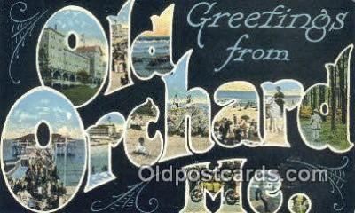 LLT201762 - Old Orchard Beach, ME USA Large Letter Town Vintage Postcard Old Post Card Antique Postales, Cartes, Kartpostal
