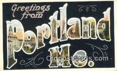 LLT201784 - Portland, ME USA Large Letter Town Vintage Postcard Old Post Card Antique Postales, Cartes, Kartpostal
