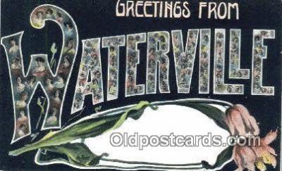 LLT201799 - Waterville USA Large Letter Town Vintage Postcard Old Post Card Antique Postales, Cartes, Kartpostal