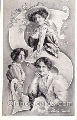 let001041 - Ruth Savile Old Vintage Antique Postcard Post Card