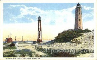 lgh001026 - Cape Henry, VA Light House, Houses Lighthouse, Postcard Postcards