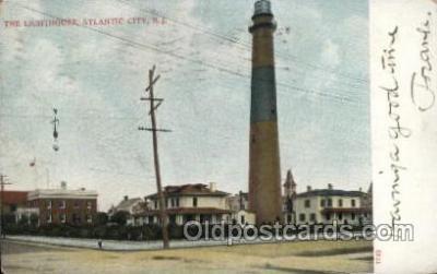 lgh001172 - Atlantic City N.J. USA Lighthouse, Lighthouses Postcard Postcards