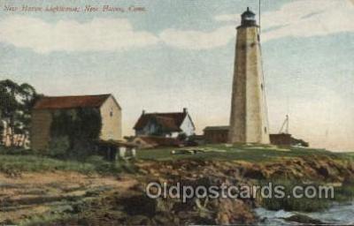 lgh001189 - New Haven, Conn USA Lighthouse, Lighthouses Postcard Postcards