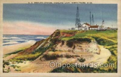 lgh100017 - U.S. Wireless Station, North Truro, Mississppi Maine USA Postcards Postcards