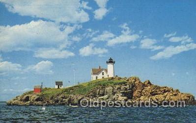 lgh100027 - Nubble Light York Beach, Maine, USA Maine USA Postcards Postcards